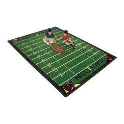 Joy Carpets Football Fun Kids Area Rug