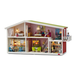 Lundby Smaland Dollhouse - This Swedish dollhouse has charm to spare. The working lights put it over the top for me — I kind of want one for myself?