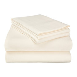 Flannel Sheet Solid - Full - Ivory - Our Flannel Sheets are made from premium quality cotton. The flannel is also thoroughly brushed in order to ensure optimal softness and comfort. Set includes One Flat Sheet 81x96, One Fitted Sheet 54x75, and Two Pillowcases 20x30 each.