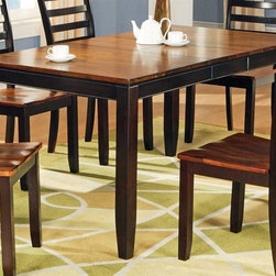 Steve Silver Co. - Abaco Collection Rectangular Butterfly Leaf T - 12 in. butterfly leaf. Tapered legs. Uniquely finished top. Multi-step acacia finish. Contemporary style. Corner block construction. Tongue and groove joints. Select hardwood solids material. Some assembly required. Solid wood construction. Table: Expands to 60 in. L. 48 in. L x 36 in. W x 30 in. H (94 lbs.)