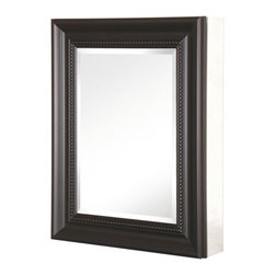 Pegasus - Pegasus Deco 20W x 26H in. Espresso Framed Medicine Cabinet SP4609 - 511411 - Shop for Bathroom Cabinets from Hayneedle.com! When people ask how you are able to look at yourself in the mirror you can say that it's pretty easy because you have the Pegasus Deco 20W x 26H in. Espresso Framed Medicine Cabinet SP4609. On the exterior of the rust-proof aluminum body is a beveled mirror surrounded by a traditionally styled frame in a deep espresso finish. The interior of the cabinet features three adjustable shelves and self-closing hinges that can open to 110 . This cabinet can be flush-mounted or hung directly to the wall using the included hanging hardware.About PegasusThink Pegasus when it comes to kitchen or bath needs. Pegasus is widely known for their signature faucets unique bath accessories and furniture vanities mirrors pedestal sinks toilets and kitchen sinks. Pegasus offers special collections featuring products that coordinate with an elegant yet sophisticated style. With designs spanning from tasteful and traditional to streamlined and contemporary Pegasus provides high-quality products and fixtures for a reasonable cost and promotes the philosophy of luxury without the extravagance.