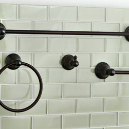 None - Oil-rubbed Bronze 4-piece Bathroom Accessory Set - Made from oil-rubbed bronze,this stunning bathroom accessory set has everything you need to organize and decorate your bathroom. From the standard towel rack to the handy robe hook,this set will totally transform your bathroom decor.