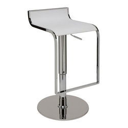 Nuevo Living - Alexander Bar Stool, White - Alexander bar stool is a top notch reproduction of the original design. This modern design makes the stool very versatile and offers height adjustability so you can use it just about anywhere. It will definitely make a statement in your home, office, lounge or wherever you so desire.
