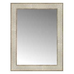 """Posters 2 Prints, LLC - 14"""" x 18"""" Libretto Antique Silver Custom Framed Mirror - 14"""" x 18"""" Custom Framed Mirror made by Posters 2 Prints. Standard glass with unrivaled selection of crafted mirror frames.  Protected with category II safety backing to keep glass fragments together should the mirror be accidentally broken.  Safe arrival guaranteed.  Made in the United States of America"""