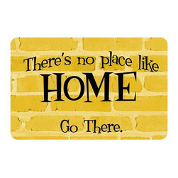 Bungalow Flooring - No Place Go There Cushion Mat - Made to order. Graphic mat adds comfort and style. Machine washable. For indoor use. 18 in. L x 27 in. W x 0.3 in. H