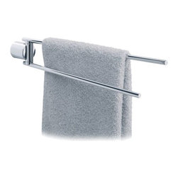 Blomus - DUO 2-Arm Towel Rail by Blomus - Grab and go with the handy Blomus DUO 2-Arm Towel Rail. Made with quality stainless steel, this towel rail will not only hold up to moisture but will continue to look sleek and stately for years to come. Complement with a variety of bathroom accessories offered by Blomus. Blomus, headquartered in Germany, specializes in the design and manufacture of beautifully engineered home and office accessories in modern stainless steel styles.