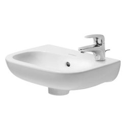 Duravit - Duravit - Handrise basin 14 1/8 In without tap hole D-Code-07053600002 - D-Code Series