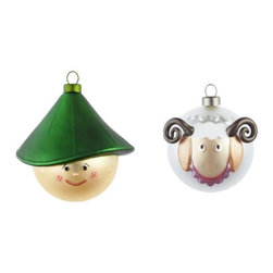 Alessi - Pastorello and Pecorello Ornament Set by Alessi - The Alessi Pastorello and Pecorello Ornament Set is the newest addition to Alessi's range of Nativity-inspired baubles for the tree. This shepherd and his little sheep are both made out of blown glass and decorated by hand. These are full-sized ornaments, designed to fit in with the 10-piece set introduced in 2012. Alessi, known as the Italian design factory, has manufactured household products since 1921. The stylish and fun items offered are the result of contemporary partnerships with some of the world's best designers of unique and modern home accessories.