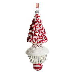 Silk Plants Direct - Silk Plants Direct Glass Peppermint Tree Cupcake Ornament (Pack of 12) - Pack of 12. Silk Plants Direct specializes in manufacturing, design and supply of the most life-like, premium quality artificial plants, trees, flowers, arrangements, topiaries and containers for home, office and commercial use. Our Glass Peppermint Tree Cupcake Ornament includes the following: