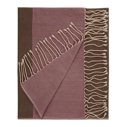 Nine Space - Aegean Fouta Towel, Chocolate - Woven from pure Turkish cotton that only becomes softer over time, this towel is a modern interpretation of a traditional fouta, originally used in Turkish bath houses. Use it as a chic beach wrap or towel, a colorful throw or as a whimsical table covering.