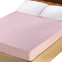 Lasin Bedding - Queen 100% Cotton 300TC Fitted Sheet - Stripe Lasin Bedding, Pink - Made of 100% high quality cotton, our 300 thread count fitted sheets are soft and comfortable, just the way you need for a good night sleep. Lasin Bedding Inc., formerly The Best Bedding Inc., is passionate to offer the highest quality elegant luxurious silk at the most reasonable price for all customers. The Best Bedding Inc. originally started in 2005, tailoring to the Canadian market; our first headquarter was in Richmond, B.C Canada.