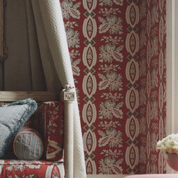 Stroheim Christophe Wallpaper - This traditional crimson wallpaper will give spaces the dignified feel from centuries past. Find it in the Stroheim Provence Collection at AmericanBlinds.com.
