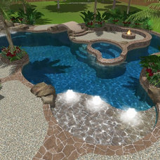 Tropical  by Cypress Custom Pools