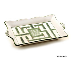 Artistica - Hand Made in Italy - GIARDINO: Rectangular Tray - GIARDINO Collection: The Giardino (Garden) collection, is an exclusive product from Deruta of Italy.