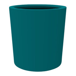 Decorpro - Large Vienna Planter, Teal - The Vienna planter is a more traditionally shaped pot. The round shape allows this planter to fit in with a wide variety of settings both indoors and outdoors.