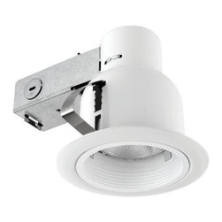 Unbranded - Outdoor Lighting. 4 in. Open Indoor/Outdoor White Recessed Lighting Kit - Shop for Lighting & Fans at The Home Depot. Globe Electric 90670 4 in. Open Indoor/Outdoor Recessed Lighting Kit, White Finish. This recessed lighting kit is perfect for both indoor and outdoor use. Quick and Easy Installation: includes extra-wide, patented clips that grip uneven holes and surfaces to secure effortlessly into position. Superior fit for a smarter, faster installation. This Globe recessed light fixtures are the ideal choice for kitchens, home offices and outdoor walkways. Highly focused light illuminates small areas.