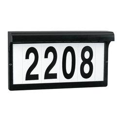 Sea Gull Lighting - 9600-12 Sea Gull Lighting Address Light, Black - 9600-12 Sea Gull Lighting Address Light