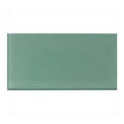 Design For Less - 3x6 Sage Green Glass Subway Tile Mosaic - Warm and subtle Sage Green Glass Subway Tile in a 3x6 size and 3/8 inches thick is a designer tile suitable for backsplashes, kitchen tile and bathroom tile. Each piece is 3�6 and comes in a box of 32 pieces or 4 square feet. We only sell by the box to avoid any breakage typical of loose pieces.