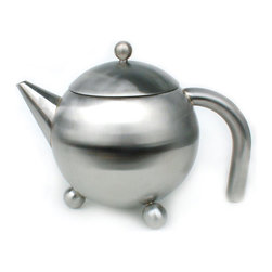 Cuisinox - Cuisinox 48 oz Satin Teapot with Infuser - This beautifully designed teapot comes with an infuser basket which gives you the option of using tea leaves, tisanes, or teabags. The infuser basket facilitates the removal of the tea bag or tea leaves. Made from durable stainless steel, this teapot stands up to everyday use.