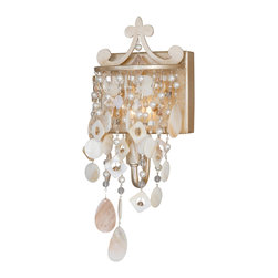 Vaxcel - Anastasia Silver Leaf Wall Sconce - Vaxcel W0008 Anastasia Silver Leaf Wall Sconce
