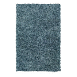 Rizzy Rugs - Shag Kempton 9'x12' Rectangle Baby Blue Area Rug - The Kempton area rug Collection offers an affordable assortment of Shag stylings. Kempton features a blend of natural Baby Blue color. Hand Tufted of 100% Polyester the Kempton Collection is an intriguing compliment to any decor.
