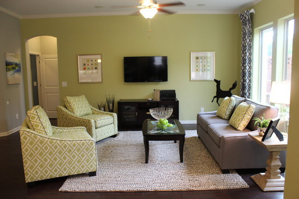 Contemporary Family Room by Flair Interiors