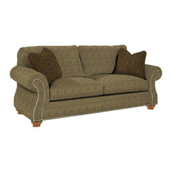 Broyhill - Broyhill Laramie Olive Sofa with Attic Heirlooms Wood Stain - Broyhill - Sofas - 50813Q1 - About This Product: