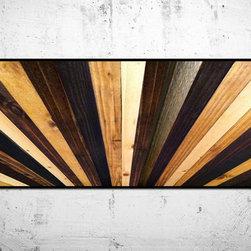 Handmade Wood Sunburst Headboard -