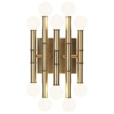 Jonathan Adler Meurice Antique Brass Metal Wall Sconce - #EUX3483 - Euro Style L