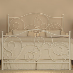 Emma Plain White Queen-size Bed -