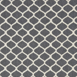 Grey and Off White Geometric Contemporary Oval Upholstery Fabric By The Yard - This contemporary fabric is an excellent choice for all indoor upholstery! In addition to looking like linen, this material is woven for enhanced appearance and durability.