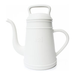 XALA - XALA Lungo Watering Can, White - Raising the old fashioned coffee pot to the status of modern cult houseware, Davy Groseman's design for Belgian label XALA reinterprets the classic shape as a quirky, oversized version in a vibrant range of colors.