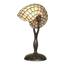 Dale Tiffany - Dale Tiffany TT10346 Nautilus Snail Table Lamp - Dale Tiffany TT10346 Nautilus Snail Table Lamp with 1 LightEnhance your style with this unique Nautilus Snail Table Lamp with 1 Light. This table lamp by Dale Tiffany features a tasteful Antique Verde finish. This lamp is a perfect way to augment the lighting in your room with style.Dale Tiffany TT10346 Features: