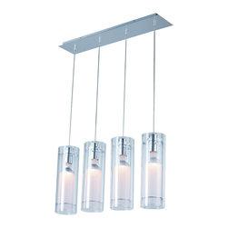 ET2 Lighting - ET2 Lighting E22001-10 Frost Polished Chrome Island Light - 4 Bulbs, Bulb Type: 50 Watt Halogen