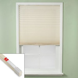 Redi Shades, Inc. - Redi Shade Easy Touch Ivory Cordless Window Shades - Easy Touch window shades are cordless for optimum safety while providing a custom look at an affordable price.