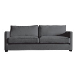 Gus Modern - Richmond Sofa by Gus Modern - The Gus Modern Richmond Sofa fits modern spaces like a well-tailored tuxedo. This tuxedo-style sofa features smooth upholstery with crisp exposed French seams. However, these sharp lines belie the total relaxed comfort of the piece. Inside the reversible back and seat cushions is a plush fill of waterfowl down feather. Mid-century modern design interpreted with an industrial edge. Such is the modis operandi of Gus* Modern. Every accessory, sofa, sectional, chair and table they design is inspired by simple forms and honest materials. The resulting modern furniture pieces are clean, elegant and versatile, with crisply tailored upholstery and solid, eco-friendly FSC-certified wood frames. Founded in 2000, Gus* Modern is based in Toronto, Ontario, Canada.