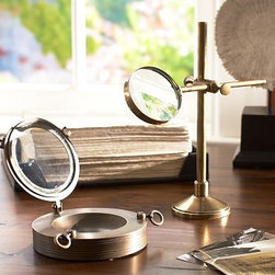 Nautical Desk Accessories | Pottery Barn - Very cool nautical magnifying glass, Not sure that I'd ever use it, It'd just make for a nice decor item!
