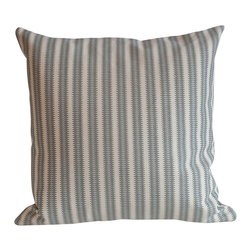 Cavern Home - Cavern Home Aztec Arrow Pillow in Colorado - The simplicity of stripes takes a new direction with this pattern, inspired by Native American design. Toss the pillow into your favorite setting to add visual depth to your space, and of course the tactile pleasure and comfort of 100 percent linen.
