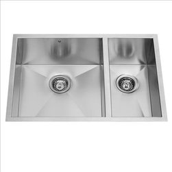 Vigo - VIGO VG2920BL Double Bowl Sink - The VIGO undermount kitchen sink complements any decor and is highly functional. Every design detail is featured in this sink to meet your needs.