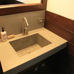 Concrete bathroom sink - concrete sink. NYC,NY.