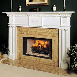 Renaissance Wood Fireplace Mantel - The unique dental molding and detail of the Renaissance wood fireplace mantel will make it a stunning focal point for your room. The Renaissance is customizable to fit your specific design needs. - Mantels Direct