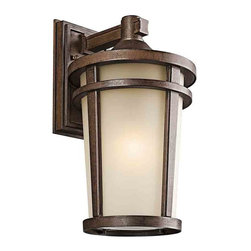 Kichler Lighting 49073BSTFL Atwood Brown Stone Outdoor Wall Sconce - Kichler Lighting 49073BSTFL Atwood Brown Stone Outdoor Wall Sconce*Number of Bulbs: 1*Bulb Type: 18W GU24*Collection: Atwood*Glass/Shade: Satin Etched*Weight: 9