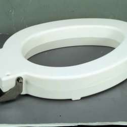 "BEMIS - BEMIS in Situational 4"" Lift Round Toilet Seat White - Allows an additional 4"" of height above rim once seat is installed."