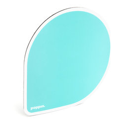 Poppin - Mousepad, Aqua - If your ho-hum workspace just can't get in line, point and click your way to cool desk style. Each balloon-shaped pad features a choice of bold, bright colors and a non-skid rubber bottom to keep you, your mouse and your work on track.