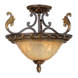 Vaxcel USA - Caesar Semi Flush Ceiling Light - Vaxcel USA products are highly detailed and meticulously finished by some of the best craftsmen in the business.