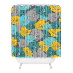 Khristian A Howell Bryant Park 4 Shower Curtain - Who says bathrooms can't be fun? To get the most bang for your buck, start with an artistic, inventive shower curtain. We've got endless options that will really make your bathroom pop. Heck, your guests may start spending a little extra time in there because of it!
