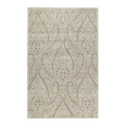 Kaleen - Kaleen Khazana Collection 6586-01 2' x 3' Ivory - Craftsmanship and outstanding value is the definition of Khazana.  These fine rugs are hand tufted using only the finest 100% virgin wool and are available in a selection of classical or contemporary designs. The collection offers an array of fashionable colors to meet all your decorating needs. Hand crafted in India.