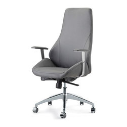 Pastel - Office Chair in Gray - The canjun office chair is beautifully crafted chair that works in any and every office space. This chair will brighten any room and features executive styling that will be ideal in modern, open spaces.