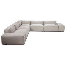 Modern Sectional Sofas Easy II Light Grey Sectional Sofa