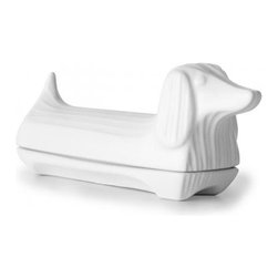 Butter Dishes at Jonathan Adler - Who doesn't want to be greeted by a friendly little pup when they go for the butter?